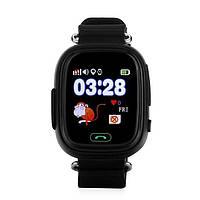 Детские смарт-часы с GPS трекером UWatch Q100 Black УЦЕНКА (Не работают), фото 1