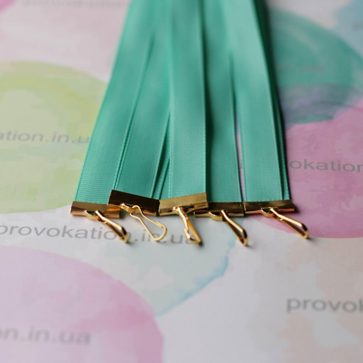 Лента для медалей и наград, Зеленая, 12мм, 65см