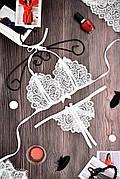 Эротическое белье комплект стринги и лиф с разрезами. Размеры от XS до XXL