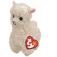 М'яка іграшка TY Beanie Babies Біла лама Lily 25 см