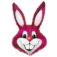 Качество! Воздушный шар из Фольги для Декора FM Мини-фигура Кролик малиновый 42см X 24см