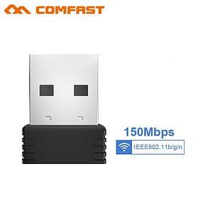 USB WIFI адаптер Comfast cf-wu710n v2 мини на чипе Ralink MTK 7601 для ТВ приставки, ПК
