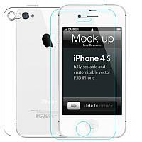 Защитное стекло iPhone 4 2 стороны