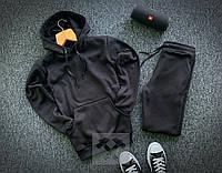 Мужской спортивный костюм трехнитка , черный