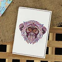Стильная обложка для паспорта из натуральной кожи ReD Ethnic monkey + блокнотик