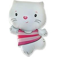 Качество! Воздушный шар из фольги для Украшения зала FM Мини-фигура LITTLE CAT White 902671B