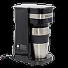 Кофеварка капельная Domotec MS-0709 с металической кружкой 700 Вт Silver-Black (3_6507)