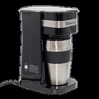 Кофеварка капельная Domotec MS-0709 с металической кружкой 700 Вт Silver-Black (3_6507), фото 1