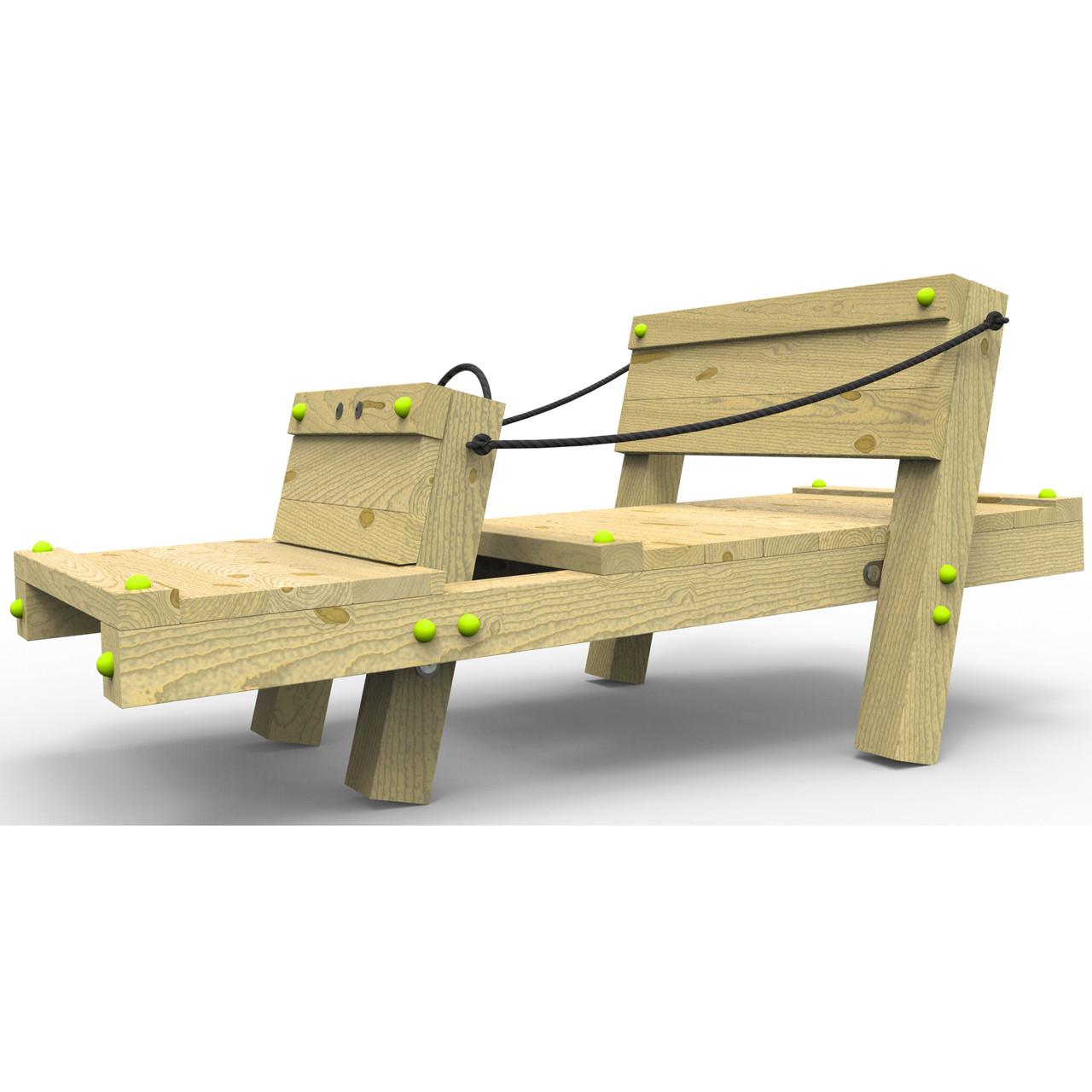 Деревянная машина на деткую площадку White Rhino Buggy