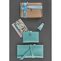 Оригинальный подарочный набор аксессуаров ReD Натуральная кожа Tiffany