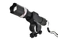 Велосипедный фонарик Police BL-T8628 с зуммом Black (3_6609)