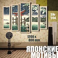 Модульная картина DK Store японские мотивы 07 120х80 см (s594)