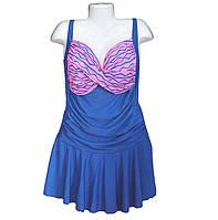 Купальник платье большого размера 54-58р