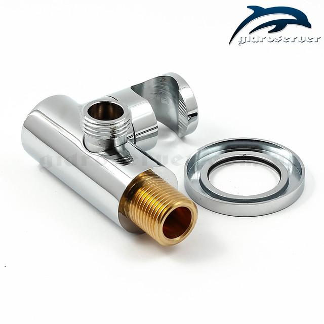 Подключение с регулируемым держателем для лейки ручного душа UD-19 с размером соединительной резьбы 1/2 дюйма.