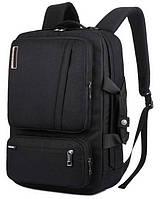 """Багатофункціональний рюкзак для ноутбука Socko 17"""" Black (3_00185)"""