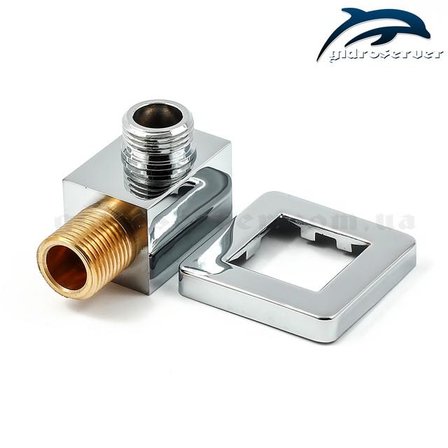 Подключение для лейки ручного душа UD-16 резьбовыми соединениями 1/2 дюйма.