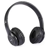 Беспроводные наушники MDR P47 MicroSD Bluetooth MP3 Black (3_5845), фото 1