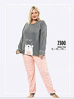 Пижама женская больших размеров 3XL FAWN зима интерлок 7300