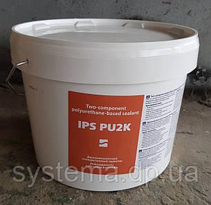 IPS PU 2K - Двокомпонентний поліуретановий будівельний герметик для стиків, відро 12 кг (8,6:1), фото 2