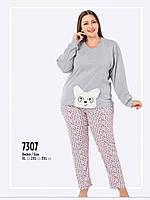 Пижама женская больших размеров FAWN зима интерлок 7307