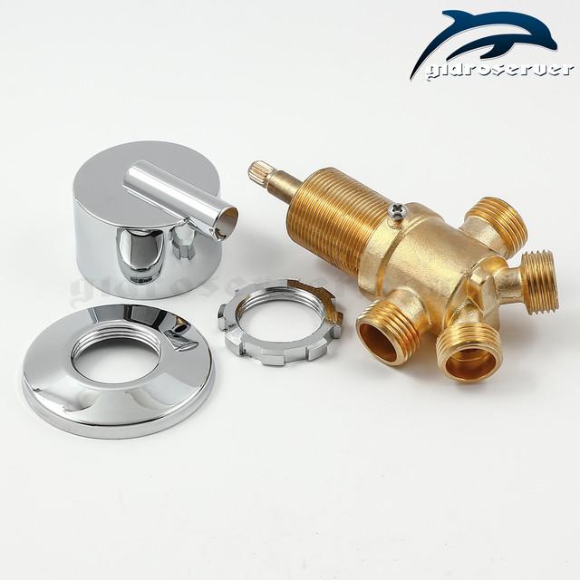 Кран для регулювання потоків холодної та гарячої води J - 5001 для гідромасажної ванни, джакузі.