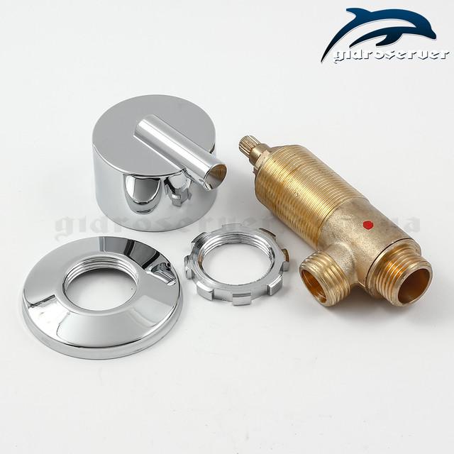 Перемикач води для гідромасажної ванни, джакузі J-5002 на два режими роботи.