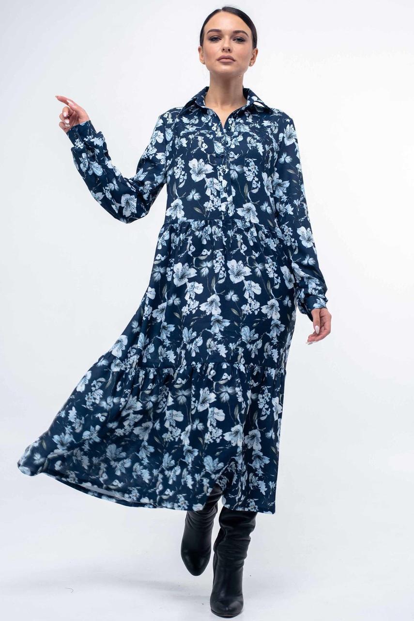 Свободное платье с 42 по 52 размер