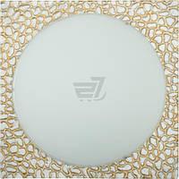 Светильник настенно-потолочный EDI Light Онис 1x60 Вт E27 белый с золотистым 52269 T30809419