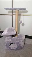 Будиночок- когтеточка  кутовий трьохрівневий, 35 * 49 см, h-93 см