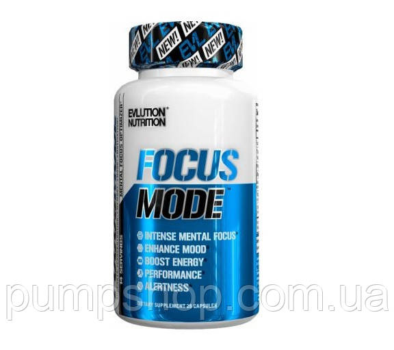 Енергетик стимулятор мозкової діяльності EVLution Nutrition Focus Mode 60 капс.