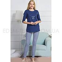 Женская пижама с длинным рукавом Vienetta, Темно-синий, S