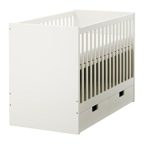 """ИКЕА """"СТУВА"""" Кроватка детская с ящиками, белый"""