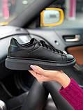 Стильні кросівки Alexander McQueen Black (Олександр Маквин), фото 2