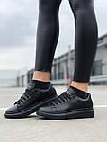 Стильні кросівки Alexander McQueen Black (Олександр Маквин), фото 3