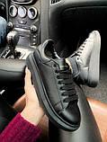 Стильні кросівки Alexander McQueen Black (Олександр Маквин), фото 5