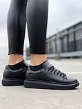 Стильні кросівки Alexander McQueen Black (Олександр Маквин), фото 4