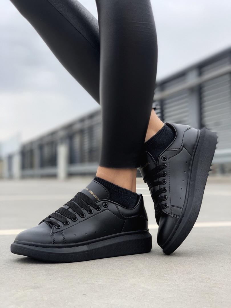 Стильні кросівки Alexander McQueen Black (Олександр Маквин)