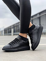 Стильны кроссовки Alexander McQueen Black (Александр Маквин), фото 1