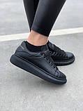 Стильні кросівки Alexander McQueen Black (Олександр Маквин), фото 8