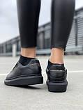 Стильні кросівки Alexander McQueen Black (Олександр Маквин), фото 6