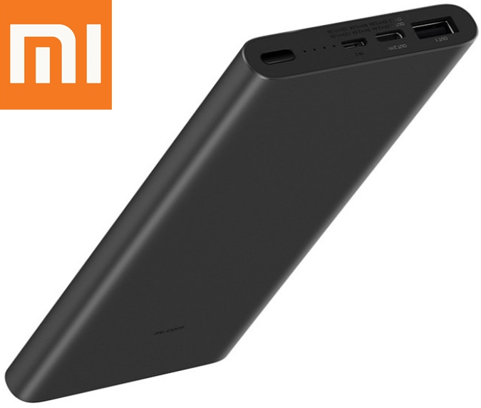 Оригинальный Xiaomi Mi Power Bank 3 10000 mAh Type-C PLM12ZM Black VXN4253CN