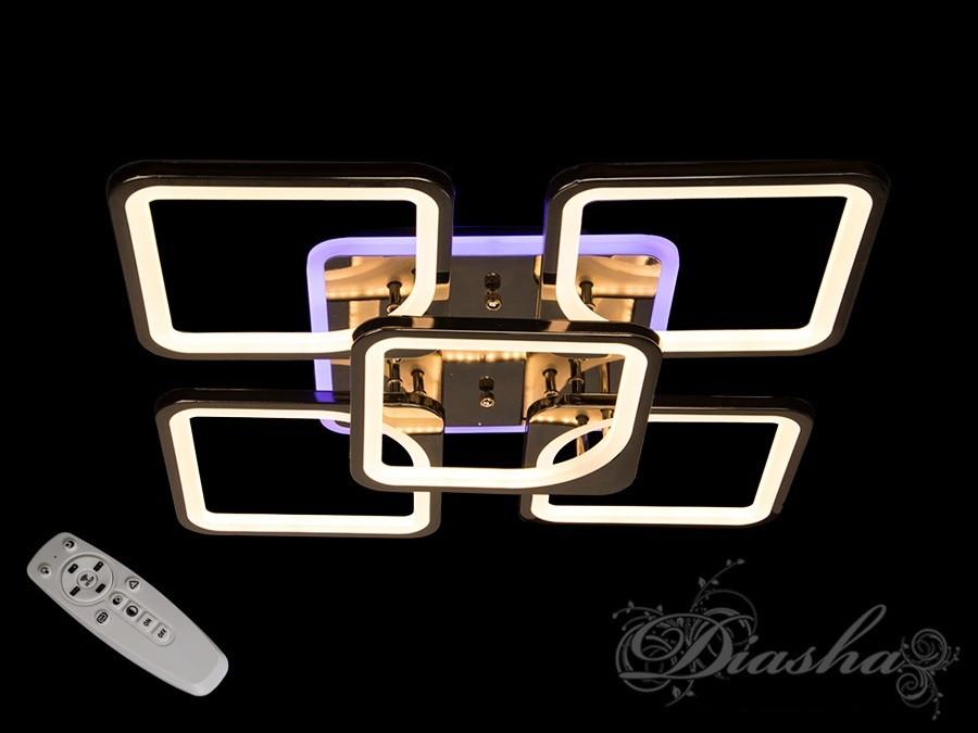 Світлодіодна люстра в кольорі чорний хром 8060/4+1BHR LED 3color dimmer