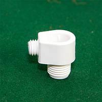 Фиксатор провода [ Mini PREMIUM ] с боковым зажимом на ушке  ( WHITE )