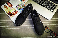 Кеды мокасины спортивная обувь Vans  37, полностью черный