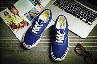 Кеды мокасины спортивная обувь Vans  37, синий
