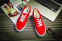 Кеды мокасины спортивная обувь Vans  42, красный