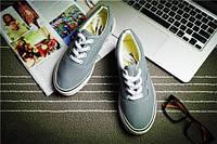 Кеды мокасины спортивная обувь Vans  44, серый