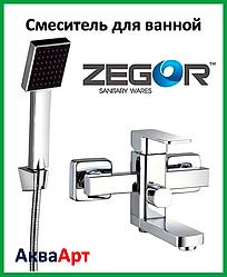 Смеситель для ванны короткий Zegor LEB3 WKB123 (хром)