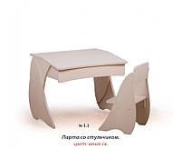 Детская парта и стул ( венге белый. синий, розовый), фото 1