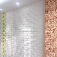 Самоклеющиеся обои Декоративная 3D панель ПВХ 1 шт, белый кирпич